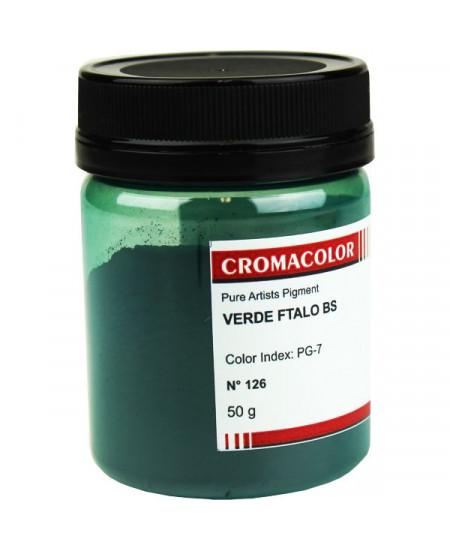 Pigmento Artístico Puro 126 Verde Ftalo BS Cromacolor 50g