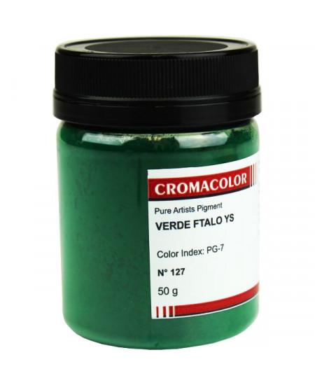 Pigmento Artístico Puro 127 Verde Ftalo YS Cromacolor 50g