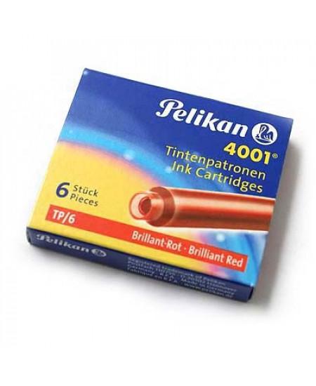 Carga Para Caneta Tinteiro Vermelho Pelikan 4001 TP/6