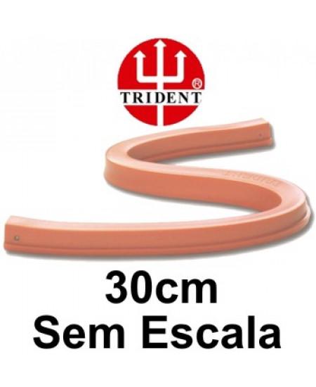 Régua Flexível sem  Escala 30cm Trident 1230