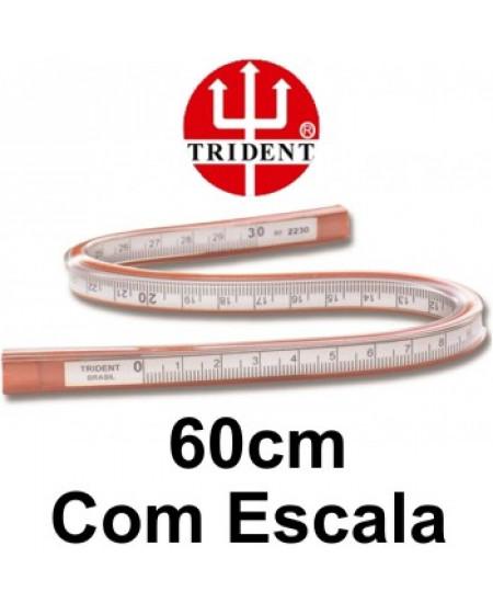 Régua Flexível com Escala 60cm Trident 2260