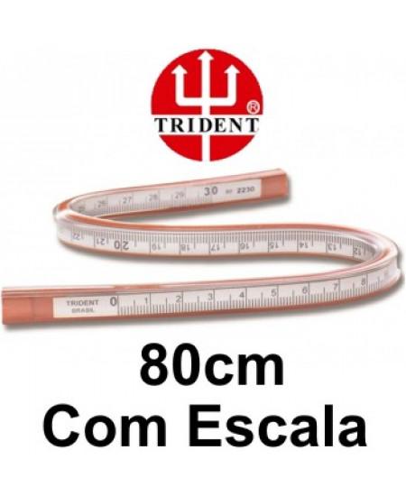 Régua Flexível com Escala 80cm Trident 2280