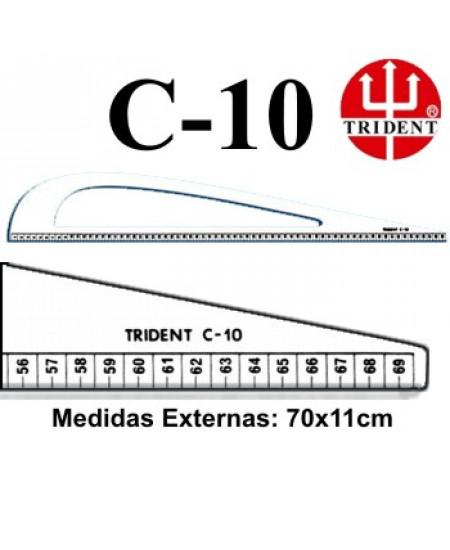 Régua de Corte e Costura Trident C-10