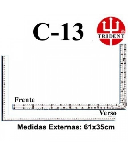 Régua de Corte e Costura Trident C-13