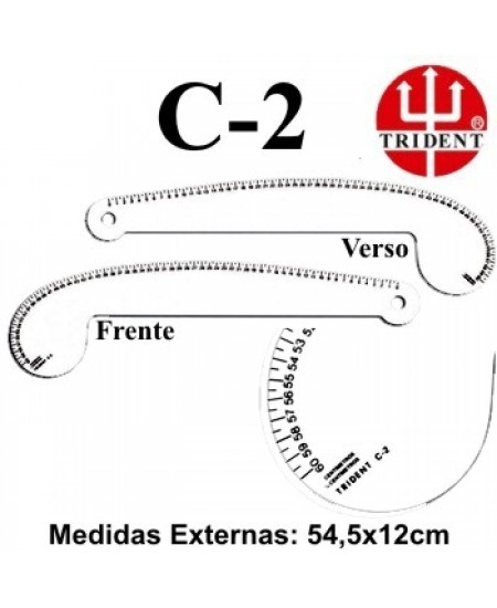Régua de Corte e Costura Trident C-02