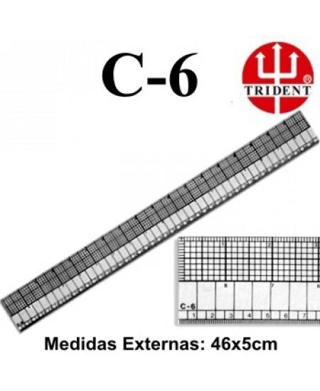 Régua de Corte e Costura Trident C-06