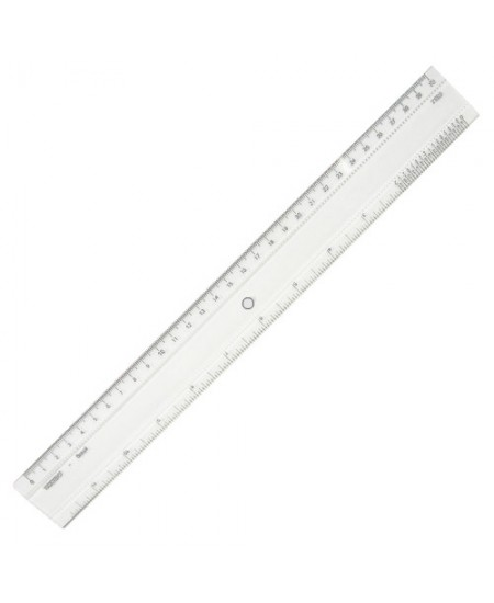 Régua de Acrílico  30cm Trident 7330