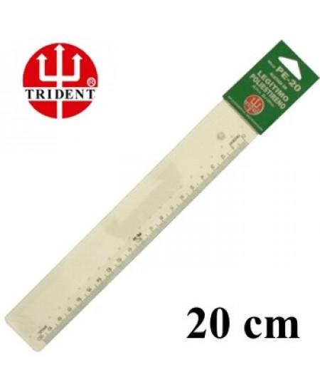Régua de Poliestireno Escolar 20cm Trident PE-20