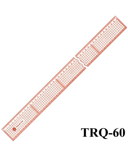 Régua de Corte e Costura Trident TRQ-60 PVC