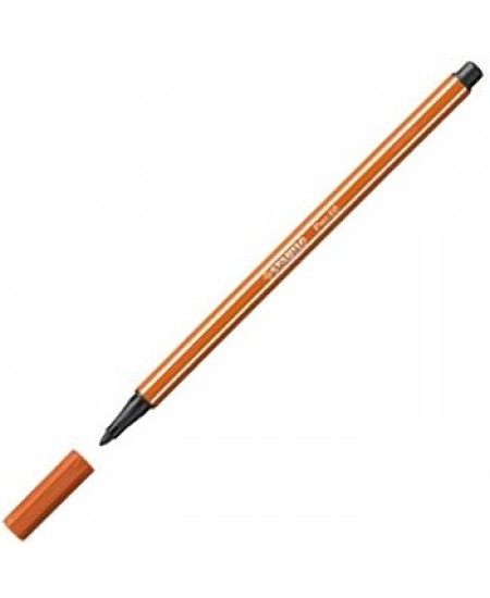 Caneta Stabilo Pen 68 89 Marrom Claro