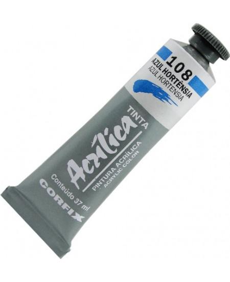 Tinta Acrílica Corfix 37ml 108 Azul Hortênsia