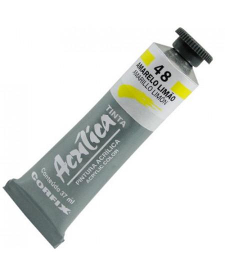 Tinta Acrílica Corfix 37ml  48 Amarelo Limão