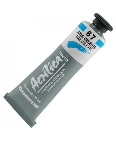 Tinta Acrílica Corfix 37ml  67 Azul Celeste