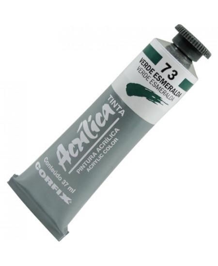 Tinta Acrílica Corfix 37ml  73 Verde Esmeralda