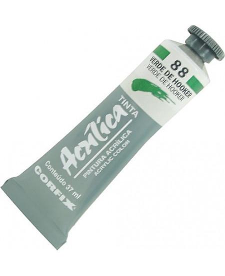 Tinta Acrílica Corfix 37ml 88 Verde de Hooker