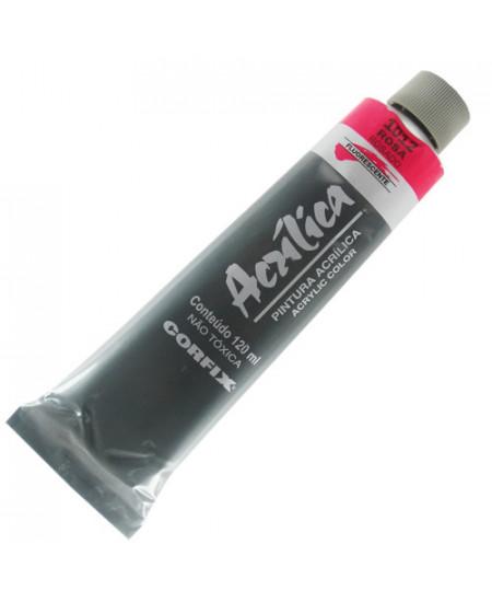 Tinta Acrílica Fluorescente Corfix 120ml 1012 Rosa