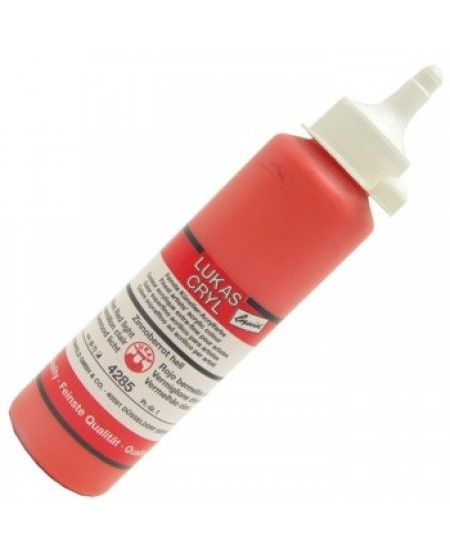 Tinta Acrílica Lukas Cryl Liquid 4285 Vermilion Red Light