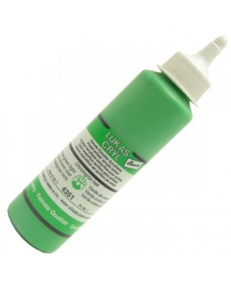 Tinta Acrílica Lukas Cryl Liquid 4351 Chrome Green Light
