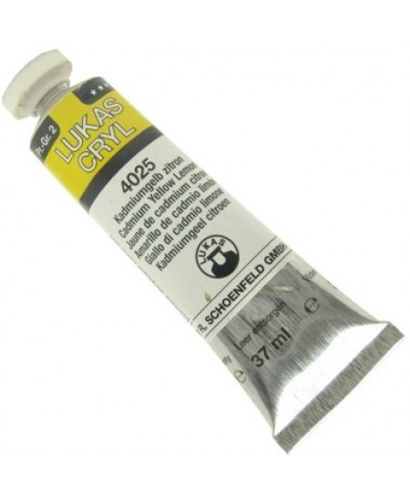 Tinta Acrílica Lukas Pastos 37ml 4025 Cadmium Yellow Lemon