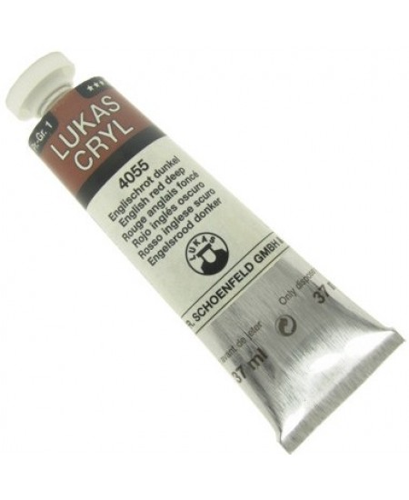 Tinta Acrílica Lukas Pastos 37ml 4055 English Red Deep