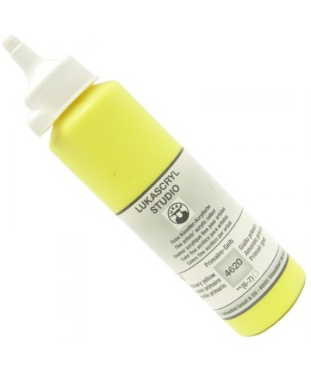 Tinta Acrílica Lukas Cryl Studio 250ml 4620 Lemon Yellow Primary