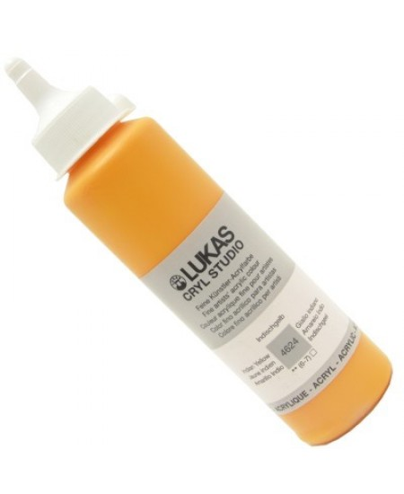 Tinta Acrílica Lukas Cryl Studio 250ml 4624 Indian Yellow