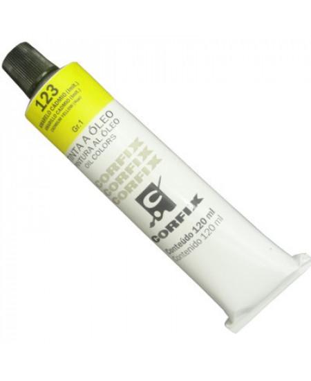 Tinta a Óleo Corfix 120ml 123 Amarelo Cád (IMIT)