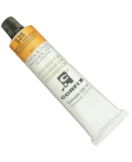 Tinta a Óleo Corfix 120ml 125 Amarelo Cád. Alaranjado (IMIT)