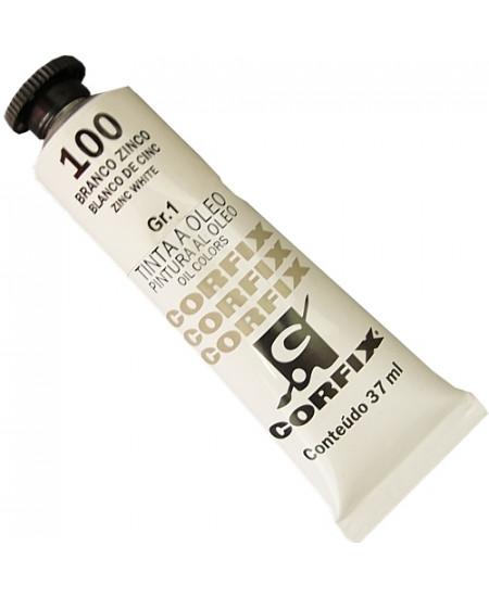 Tinta a Óleo Corfix 37ml 100 Branco Zinco - G1