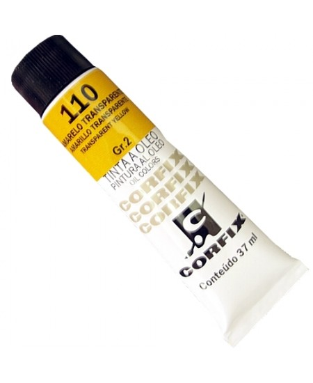 Tinta a Óleo Corfix 37ml 110 Amarelo Transparente - G2