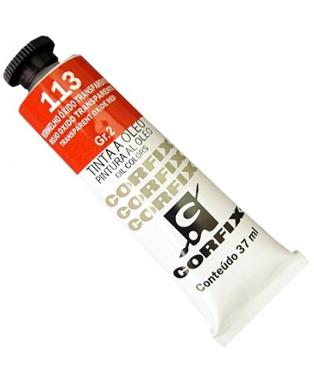 Tinta a Óleo Corfix 37ml 113 Vermelho Óxido Transp. - G2