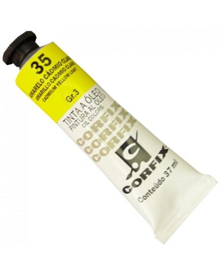 Tinta a Óleo Corfix 37ml  35 Amarelo Cádmio Claro - G3