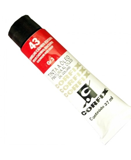 Tinta a Óleo Corfix 37ml  43 Vermelho Cádmio Escuro - G3