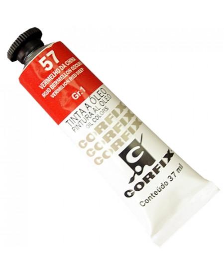 Tinta a Óleo Corfix 37ml  57 Vermelho China - G1