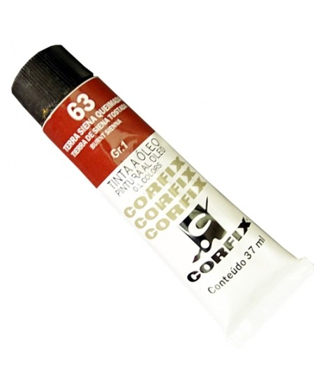 Tinta a Óleo Corfix 37ml  63 Terra Siena Queimada - G1