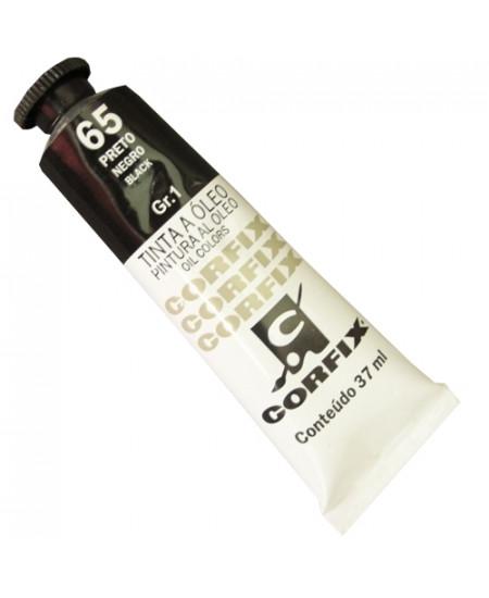 Tinta a Óleo Corfix 37ml  65 Preto - G1