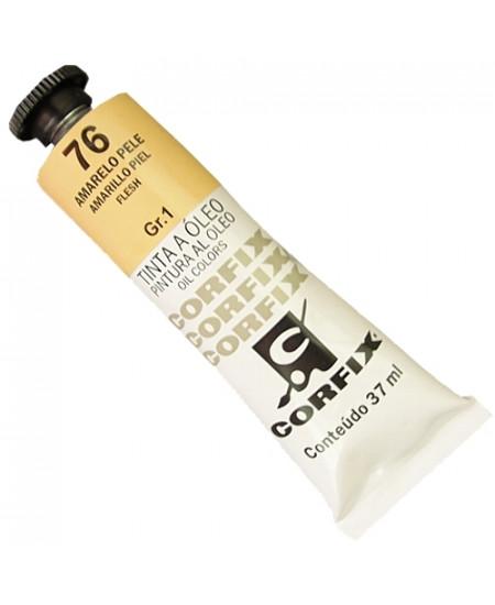 Tinta a Óleo Corfix 37ml  76 Amarelo Pele - G1