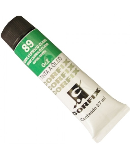 Tinta a Óleo Corfix 37ml  89 Verde Cúprico Claro - G2