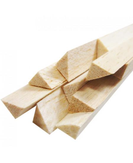 Vareta de Madeira Balsa Triangular 12x12x930mm