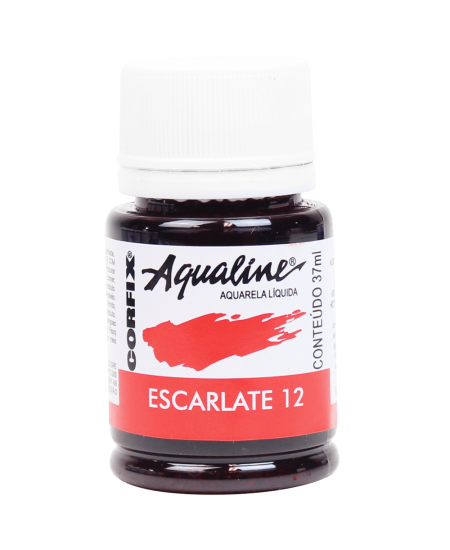 Aqualine Aquarela Líquida 12 Escarlate 37ml Corfix