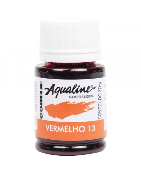 Aqualine Aquarela Líquida 13 Vermelho 37ml Corfix