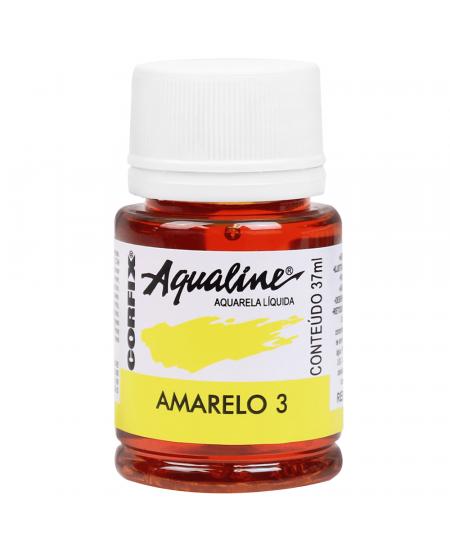 Aqualine Aquarela Líquida 03 Amarelo 37ml Corfix