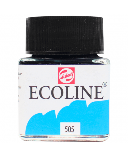 Aquarela Líquida Ecoline Talens 30ml 505 Ultramarine Light