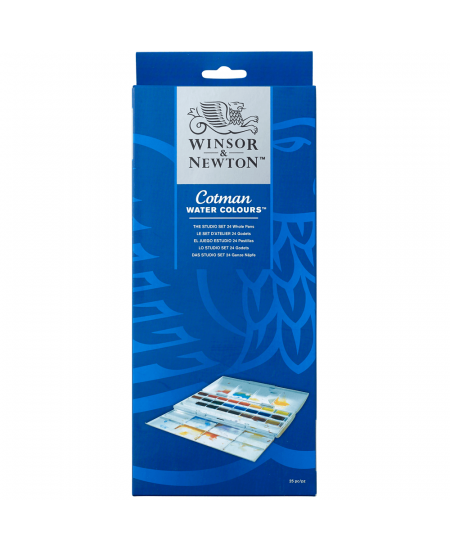Aquarela Winsor & Newton Cotman Studio Set 24 Cores