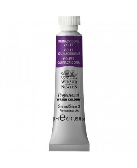 Tinta Aquarela Profissional Winsor & Newton Tubo 5ml S3 550 Quinacridone Violet