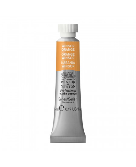 Tinta Aquarela Profissional Winsor & Newton Tubo 5ml S1 724 Winsor Orange
