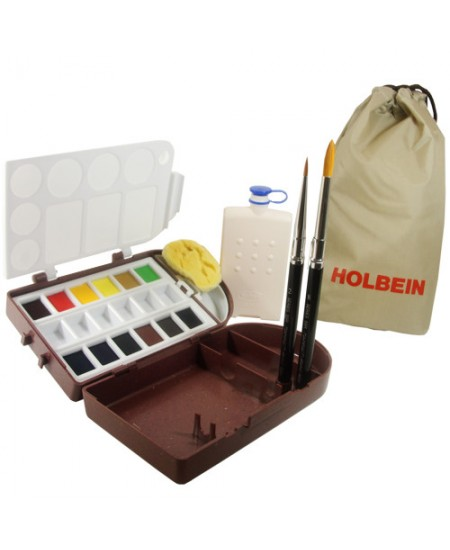 Aquarela Holbein em Pastilha Travel Kit II