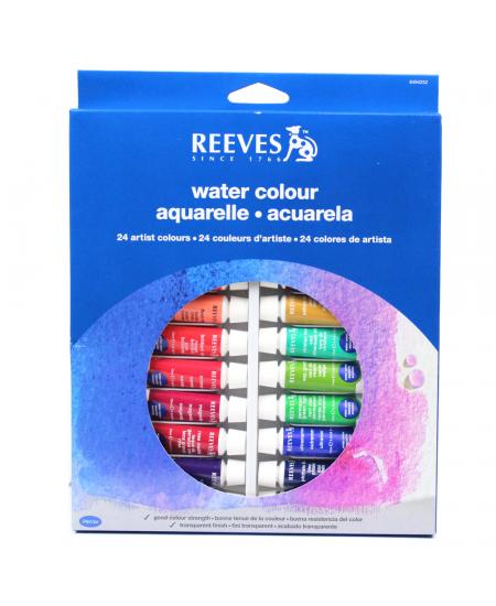 Aquarela Reeves 24 Cores de 10ml