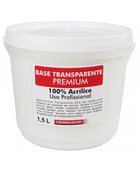 Base Acrílica Transparente PREMIUM Cromacolor 1,5L