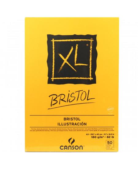 Bloco de Papel para Desenho Bristol XL 180g/m² A3 50 folhas